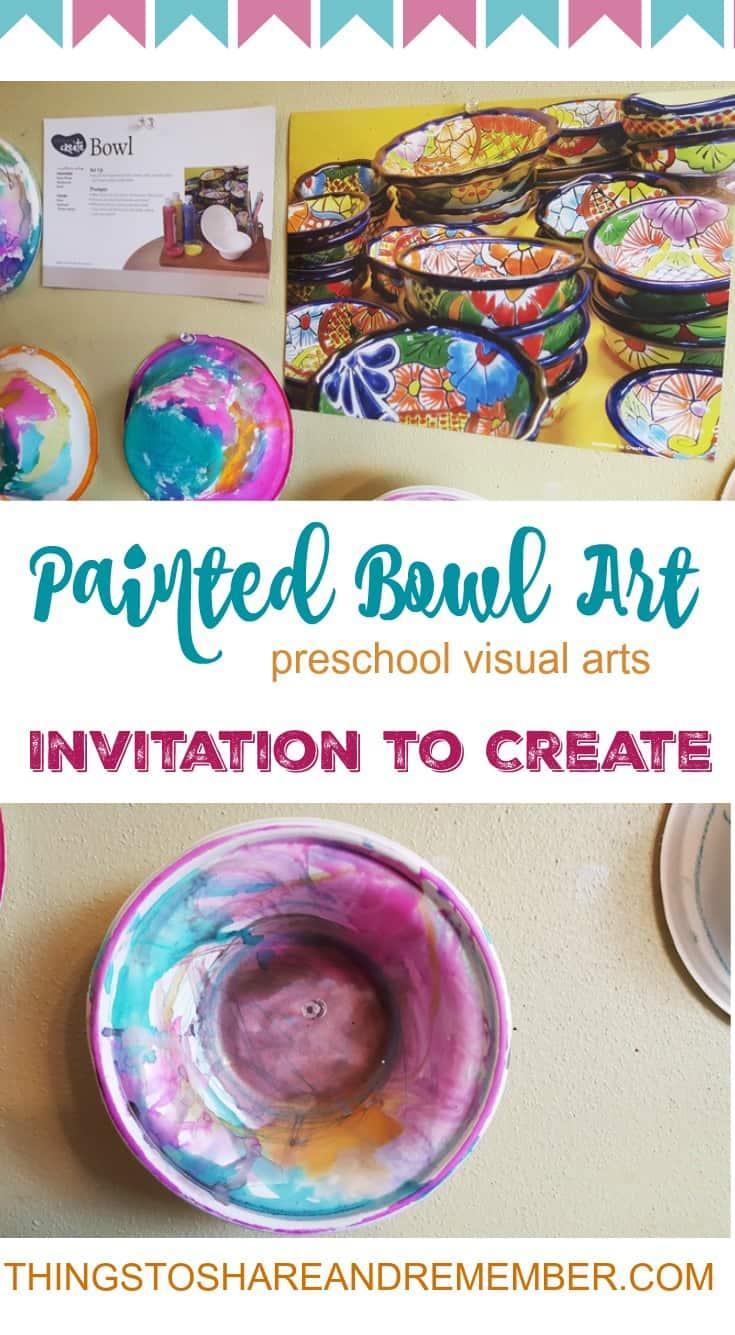 Painted Bowl Preschool Art