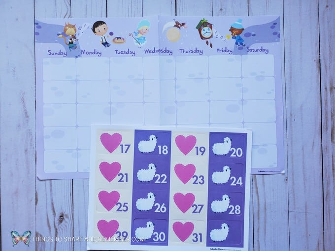 calendar grid and numbers - Experience Early Learning Nursery Rhymes