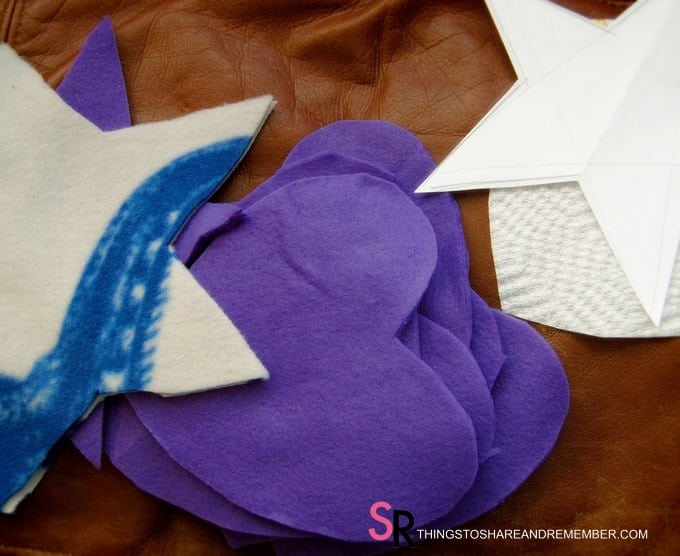 Heart Hand Warmer Tutorial with Printable Gift Label cut heart shape from fleece