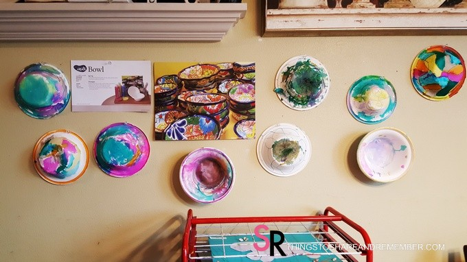 Painted Bowls Preschool Art