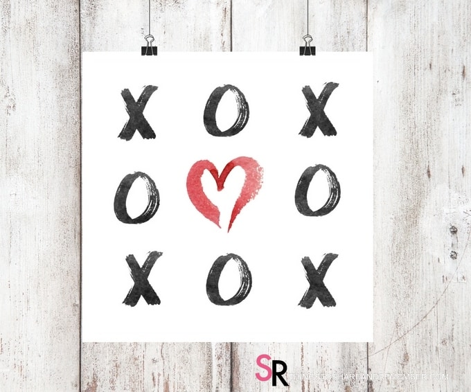 XOXO Valentine Wall Art Printable