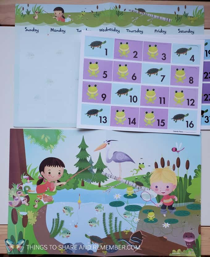 theme poster and calendar Core concepts Experience Early Learning preschool curriculum
