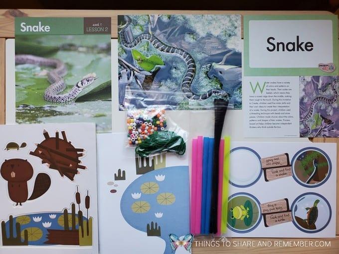 preschool snake lesson pond life theme