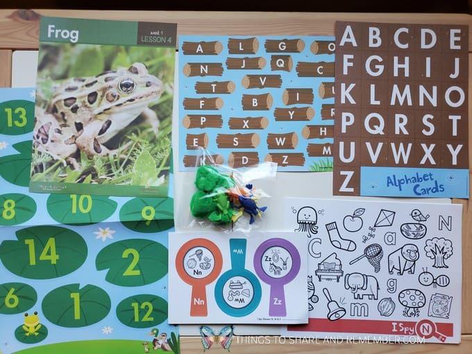 preschool frog lesson pond life theme