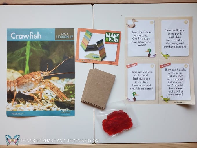 preschool crawfish lesson pond life theme