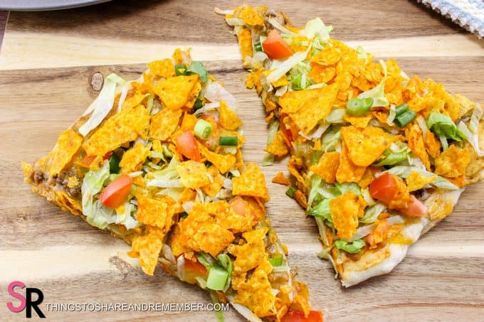 slices of Quick & Easy Taco Pizza