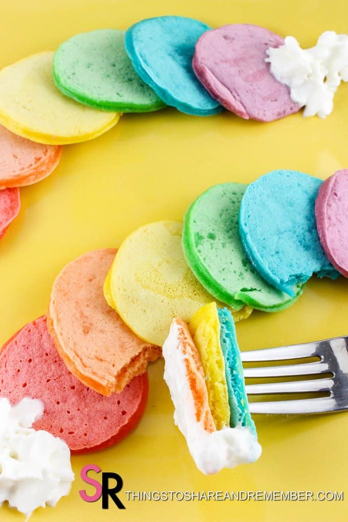 Mini Rainbow Pancakes