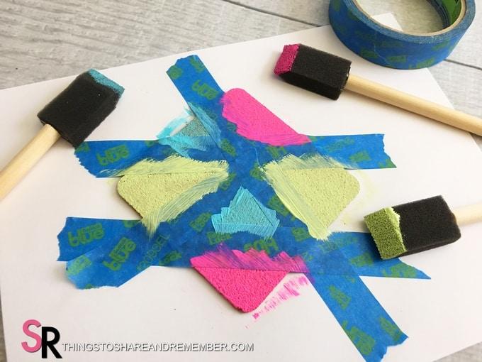 DIY Painted Cork Coasters painted