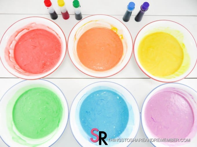 Mini Rainbow Pancakes coloring