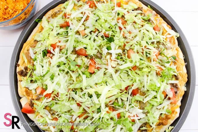 lettuce is optional Quick & Easy Taco Pizza