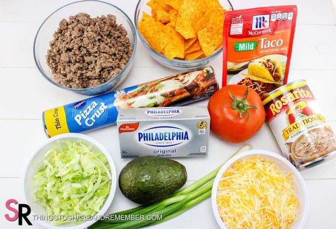 Quick & Easy Taco Pizza ingredients