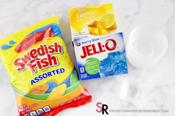Dr. Seuss One Fish Two Fish Jello Cups ingredients