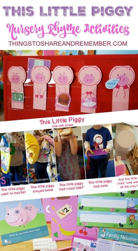The Little Piggy Nursery Rhyme Preschool Activities #MGTblogger