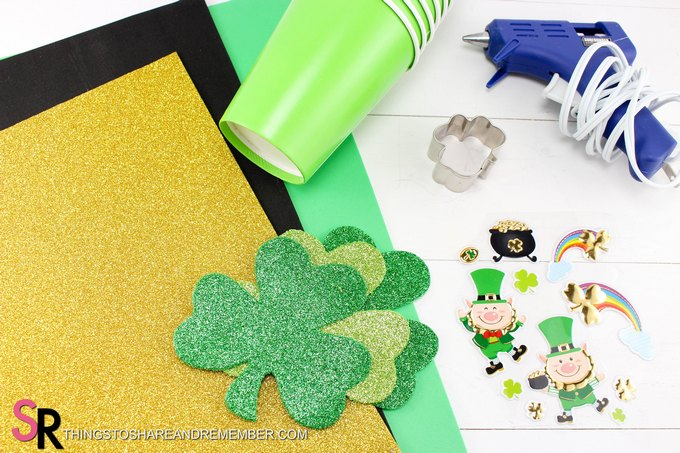 St. Patty's Day Snack Cups craft supplies