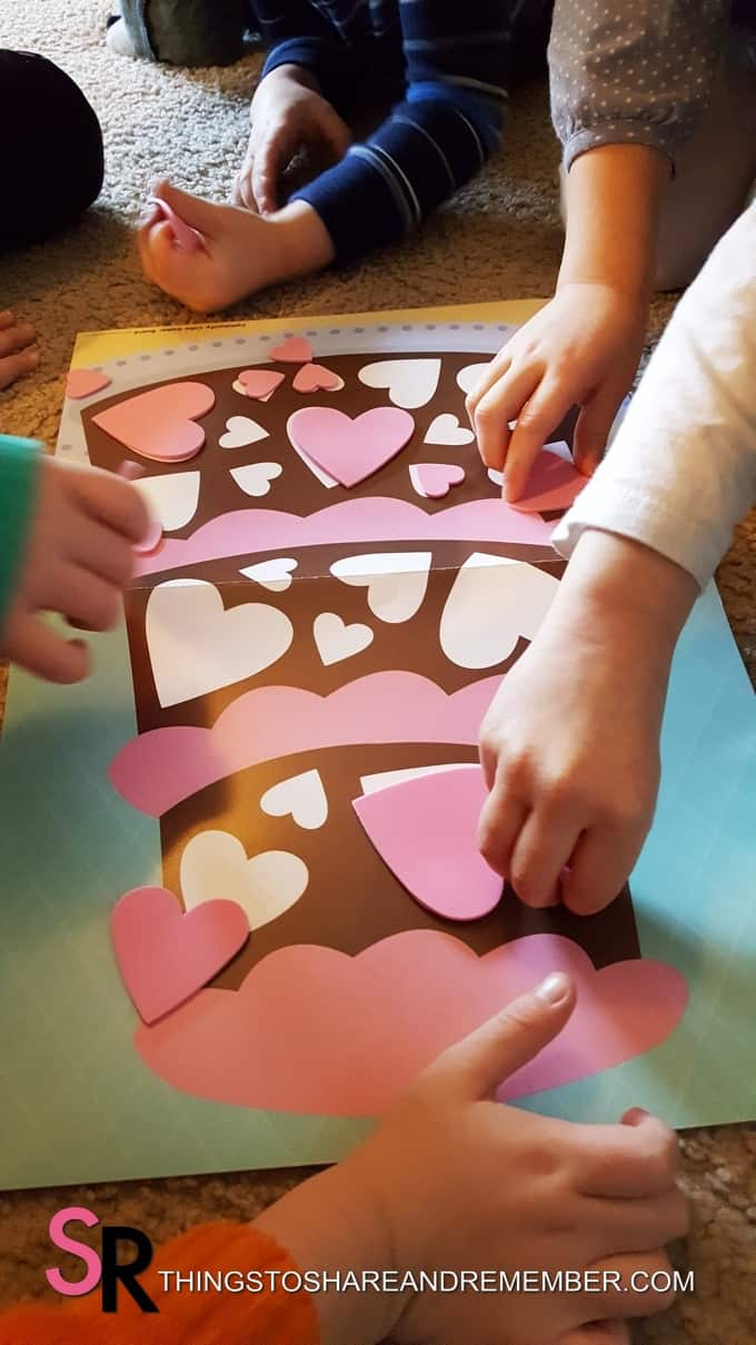 Pat a Cake Nursery Rhyme Activities heart shapes