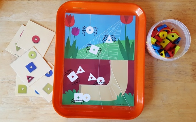 Itsy Bitsy Spider preschool shape activities