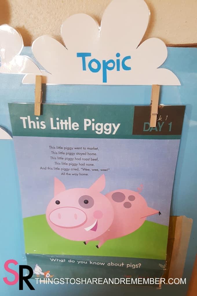 This Little Piggy nursery rhyme poster