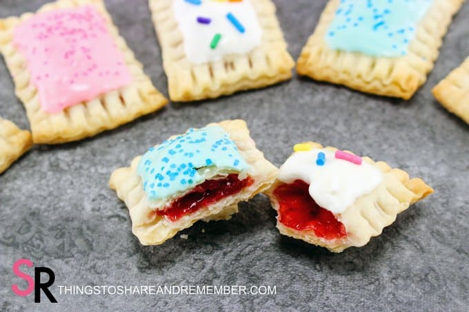 Mini Pop Tarts with cherry pie filling