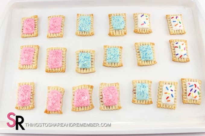 Mini Pop Tarts made with Pillsbury Pie Crusts