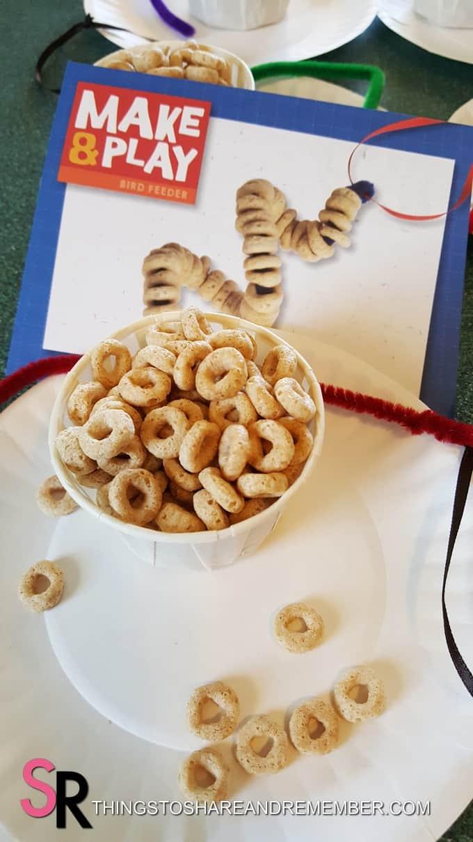 Make & Play bird feeder preschool craft