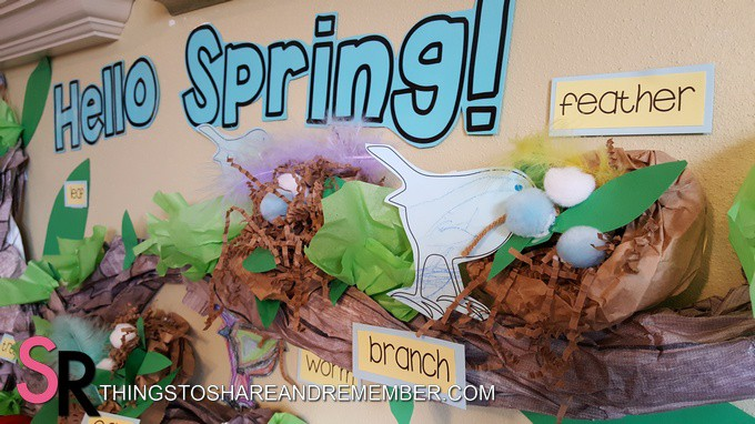 Hello Spring Tree Wall Display