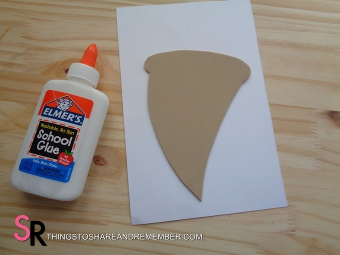 glue and pizza shape template