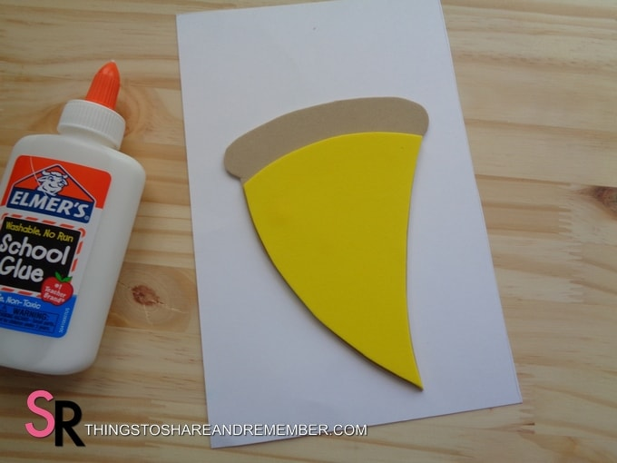 making a pizza card for father's day craft foam