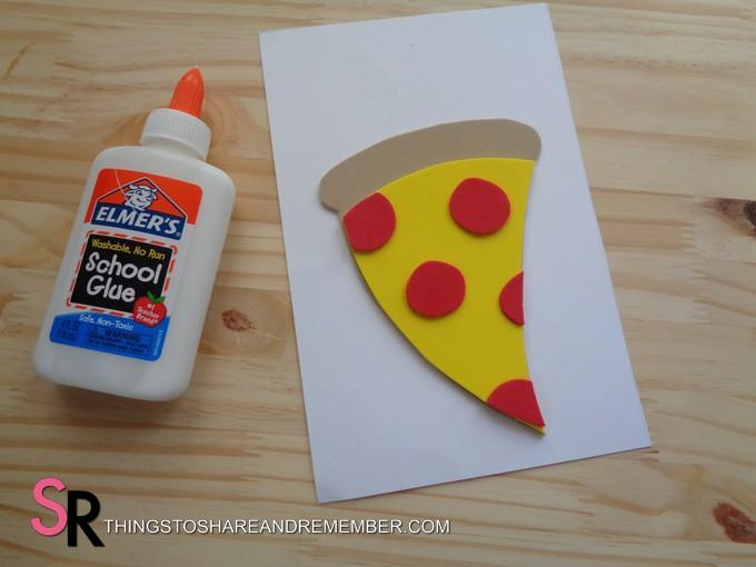 craft foam pizza card