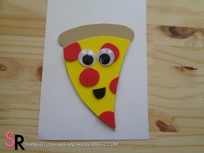 pizza shape with googly eyes