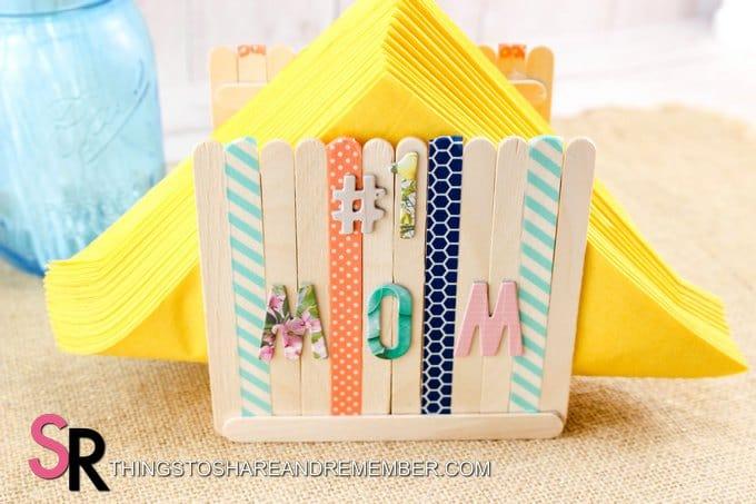 #1 mom napkin holder craft
