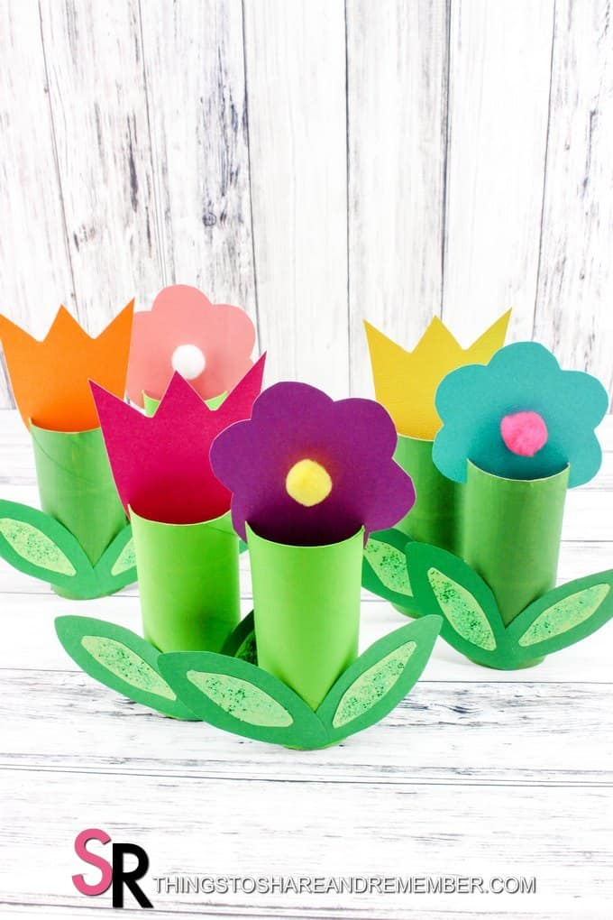 Paper roll spring flowers craft mightylinksfo