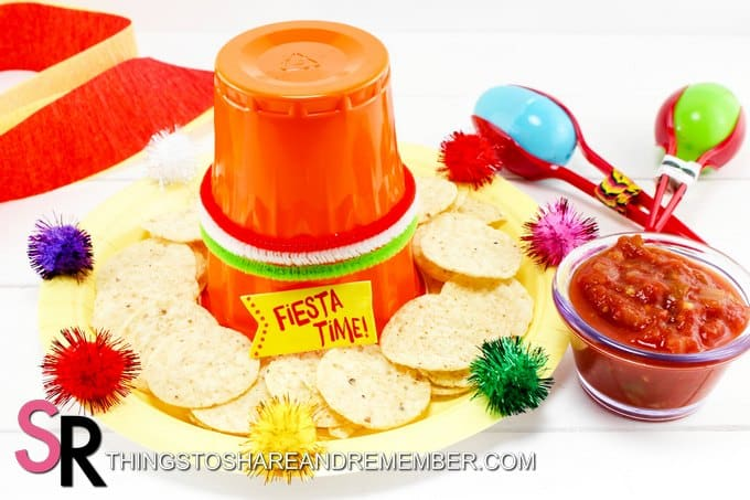 Fiesta Sombrero serving idea for chips and salsa