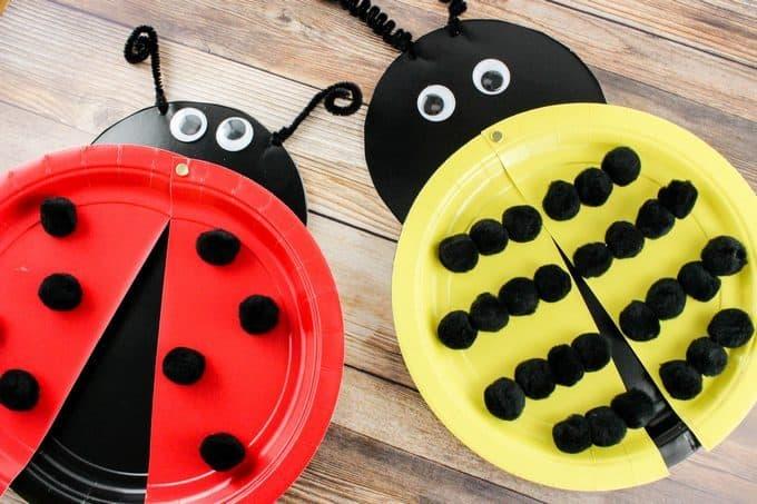 Ladybug and Bee Plate Crafts