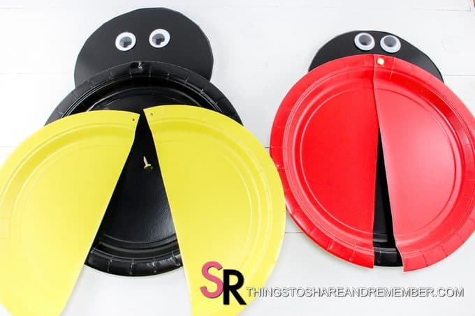 Ladybug and Bee Plate Crafts