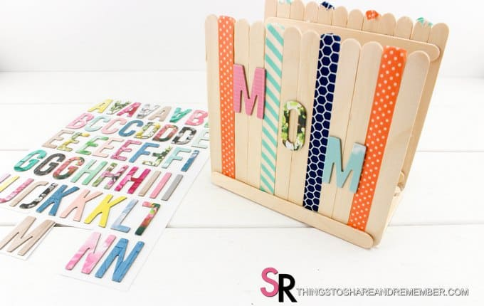 craft stickers on napkin holder