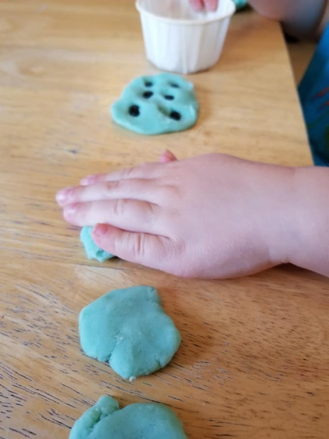 play dough ant hills