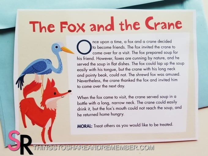 The Fox and the Crane story