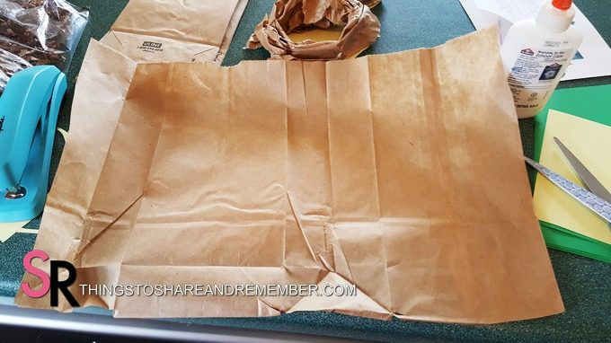 cut open paper lunch bag