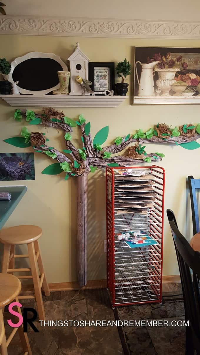 spring tree wall display preschool