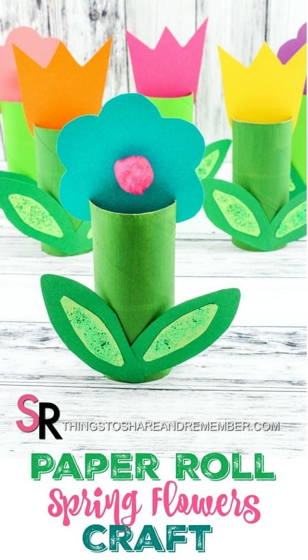 "Paper Roll Spring Flowers Craft ></noscript>> Paper towel (toilet paper roll) crafts are always popular with their abundance and versatility. The Paper Roll Spring Flower Craft is super cute and perfect for spring display, May Day, or a Mother's Day craft for preschoolers. I think they would also make lovely place setting cards with names written on them for Easter or a birthday party. "" class=""wp-image-18376″/></figure></div><p>Brighten anyone's day with this little flower craft that stands all by itself. You probably have everything on hand to make them so you can get started right away! If you prefer to not use recycled paper rolls, they are now available in most craft stores. One plus to buying rolls is I've noticed they are usually a little more heavy duty.</p><h2>Paper Roll Spring Flowers Craft</h2><p><strong>Supplies</strong></p><ul><li>Empty Toilet/<a href="
