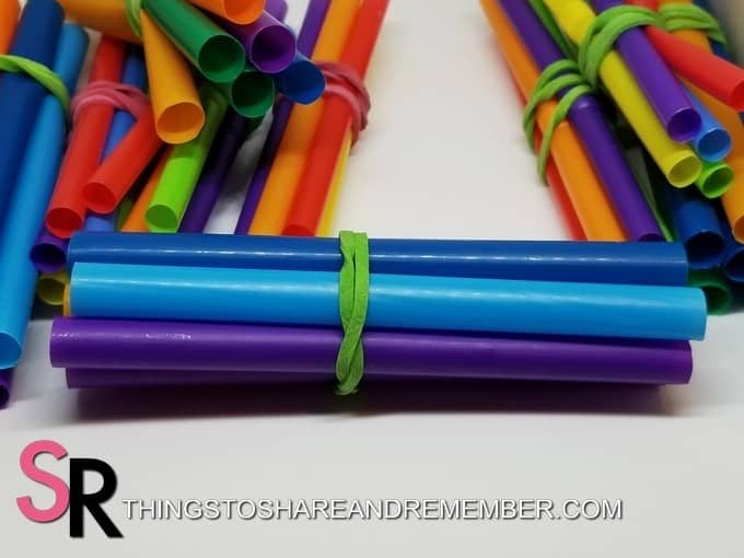 Straws & Play Dough