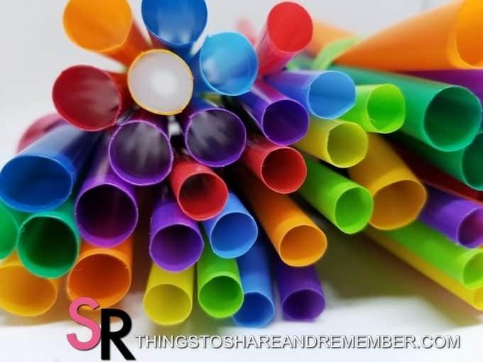 Straws & Play Dough