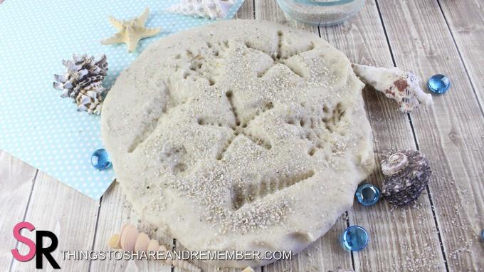 DIY Sand Play Dough impressions
