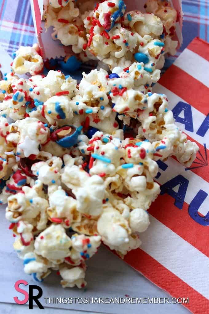 Celebrate with 4th of July Popcorn