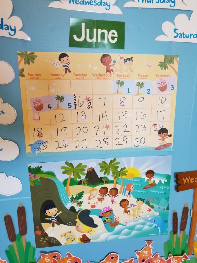 June Calendar Numbers For Preschool : Alphabet island