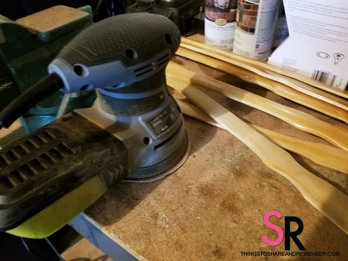 sander on workbench