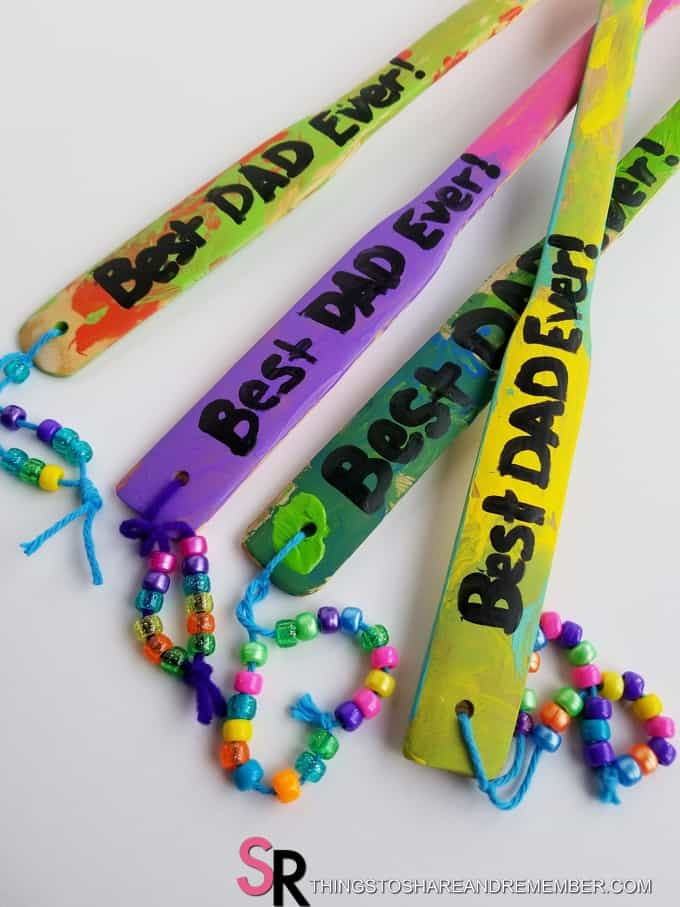 best dad ever and beads on handles