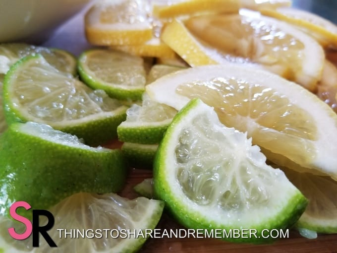 sliced limes and lemons