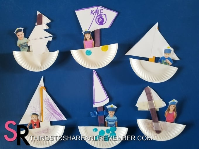 paper sailboats
