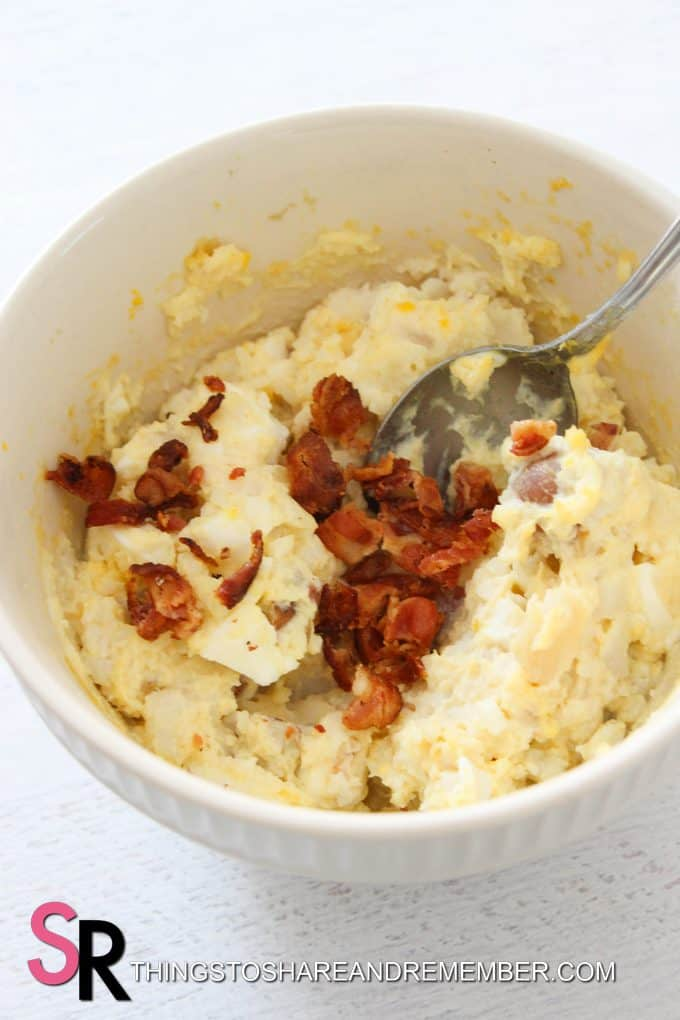 bacon in potato salad